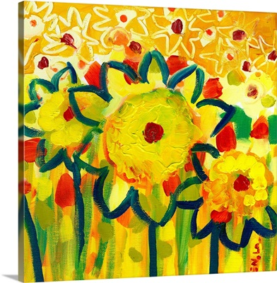 Amongst the Sunflowers No 1