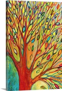 Rainbow Tree In Autumn