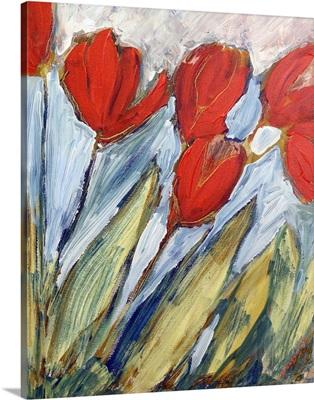 Six Orange Tulips