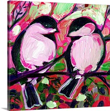 Valentine Chickadees in Love