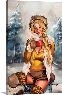 Apres Ski Gold Cocoa Pinup