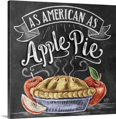As American As Apple Pie Handlettering