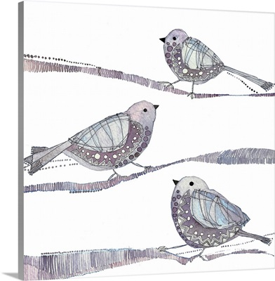 Aubergine Birds