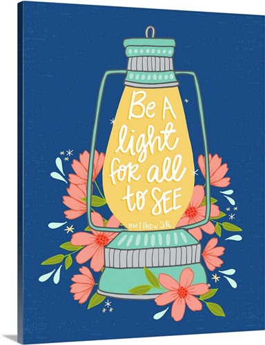 Be A Light For All To See - Color Handlettered Bible Verse Wall Art ...