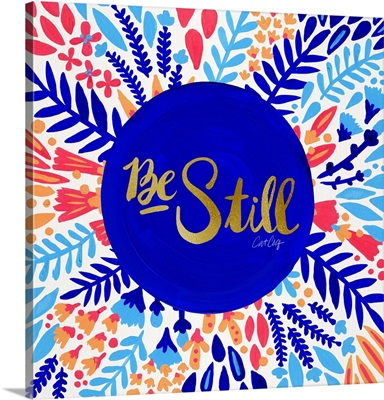 Be Still Circle - Navy