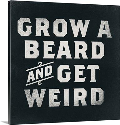 Beard Weird Dark Distressed