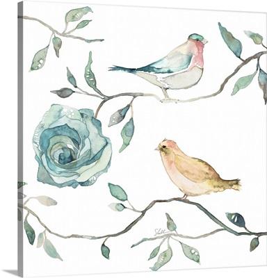 Bloom Beautiful Birds Turquoise