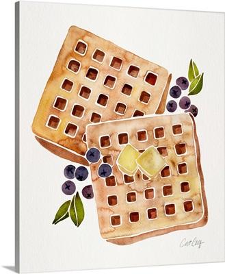 Blueberry Breakfast Waffles