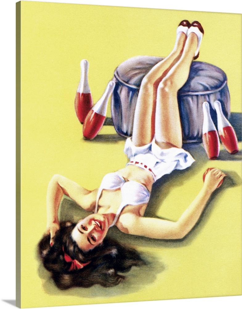 Fancy Pin Up Girl Wall Art Frieze - Art & Wall Decor - hecatalog.info