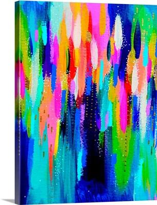 Bright Brush Strokes Blue Multicolor