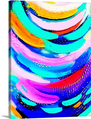 Bright Brush Strokes Teal And Gold