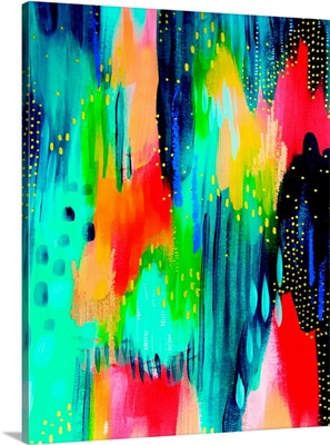 Bright Brush Strokes Teal And Red
