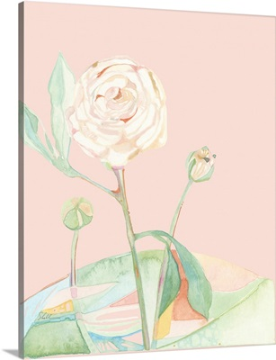 Colorblock Modern Watercolor Roses