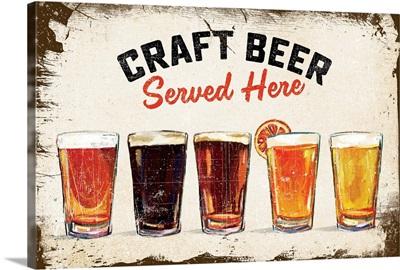 Craft Beer Lineup Vintage Sign