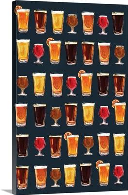 Craft Beer Pattern - Dark