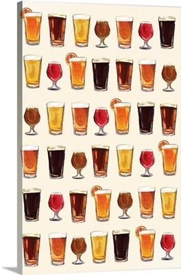 Craft Beer Pattern - Light