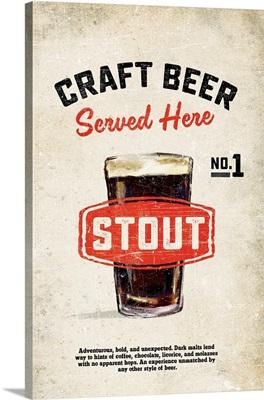 Craft Beer Stout Vintage Sign