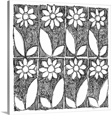 Flower Boxes Coloring