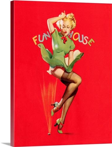 Funhouse Pin Up Girl Wall Art Canvas Prints Framed Prints Wall Peels Great Big Canvas
