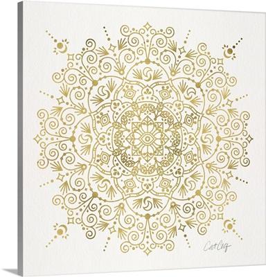 Gold Moroccan Mandala