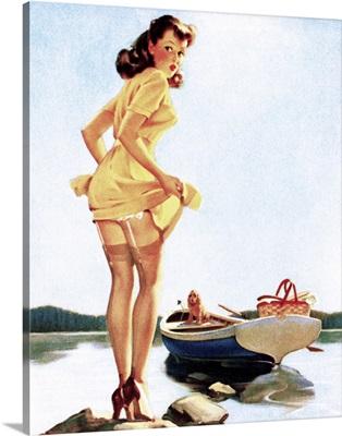 Gone Fishing Pin Up Girl