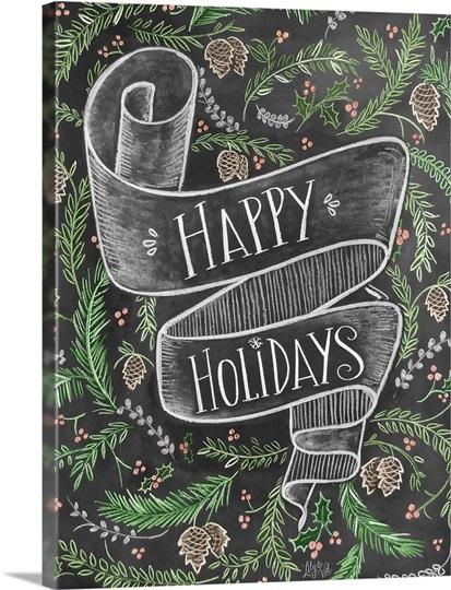 Happy Holidays Handlettering