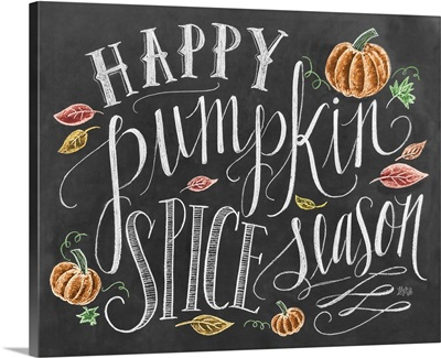 Happy Pumpkin Spice Season Handlettering