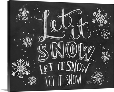 Let It Snow Handlettering