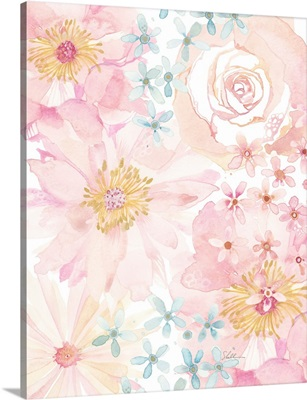 Modern Watercolor Rose Garden