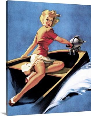 Motorboating Pin Up Girl