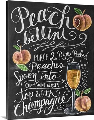 Peach Bellini Handlettering
