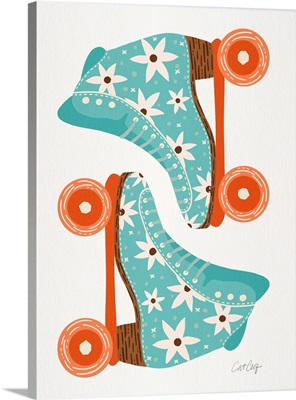 Retro Roller Skates - Blue Orange