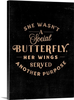 Social Butterfly - Peach Black