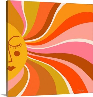 Sunshine Swirl - Retro Ochre