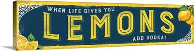 Tin Sign - Lemons