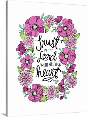 Trust In The Lord Handlettered Bible Verse