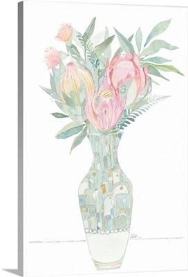 Watercolor Flowers In A Vase II