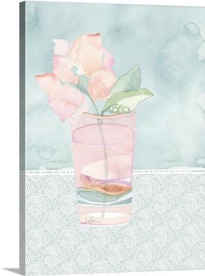 Watercolor Flowers In A Vase III
