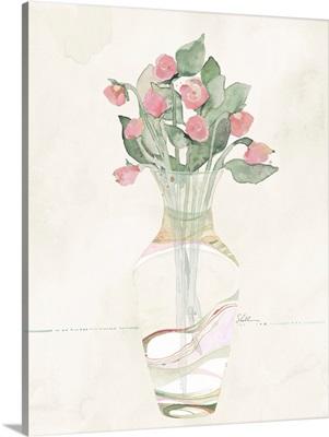 Watercolor Flowers In A Vase V