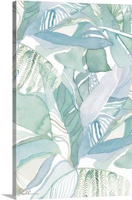 Watercolor Tropical Foliage I