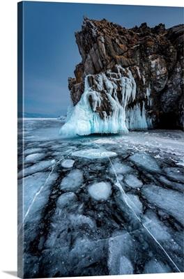 A Particular Form Of The Ice At Lake Baikal, Irkutsk Region, Siberia, Russia