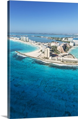 Aerial of Cancun, Quintana Roo, Mexico