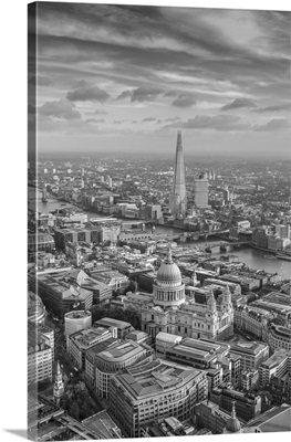 Aerial View From Helicopter, London, England