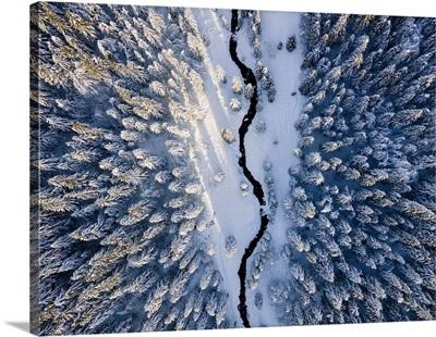 Aerial View Of Brescia Prealpi In Brescia Province, Lombardy District, Italy, Europe