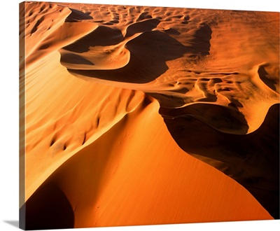 Aerial View Of Sand Dunes, Sossusvlei, Namibia, Africa