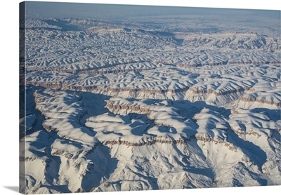 Aerial view over Helmand in central Afghanistan