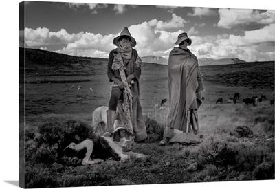 Africa, Southern Africa, Maseru District, Lesotho, Semonkong, Sheep Herder