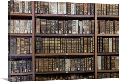 Ancient Books In Biblioteca Joanina, University Of Coimbra, Portugal