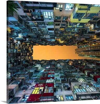 Apartment building near Quarry Bay, Kowloon, Hong Kong, China