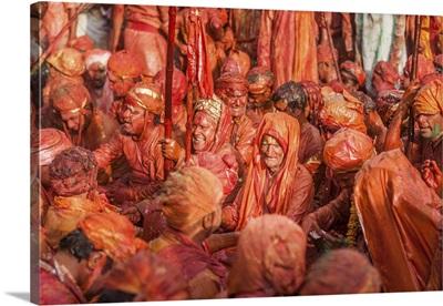 Asia, India, Uttar Pradesh, Nandgaon, Holi festival of Colors